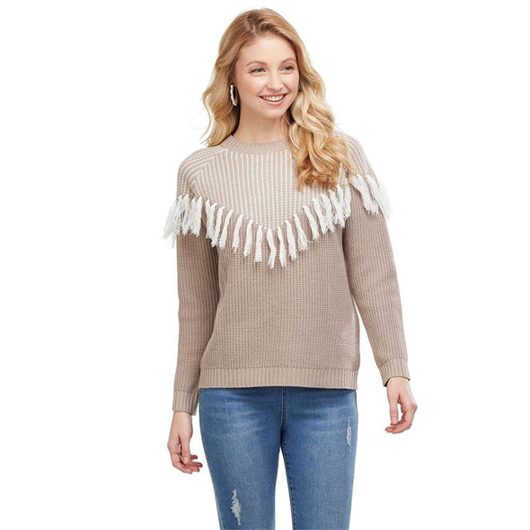 I Was There For You Fringe Sweater
