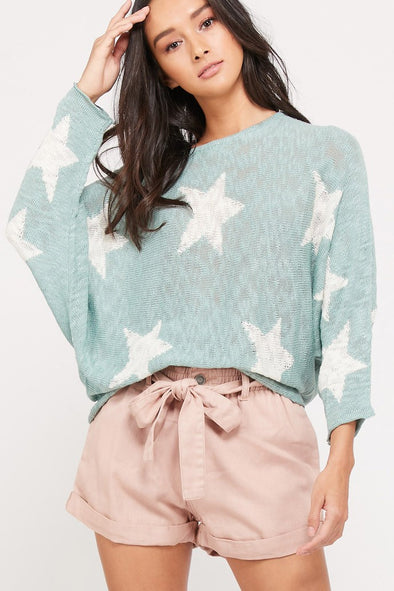 Nothing Holding Me Back Star Sweater