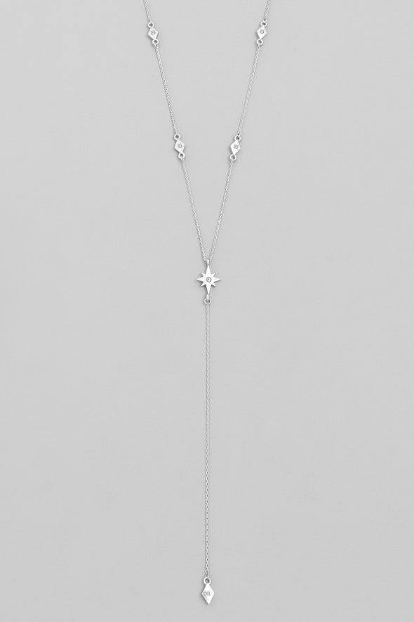 Delicate Star Lariat Necklace