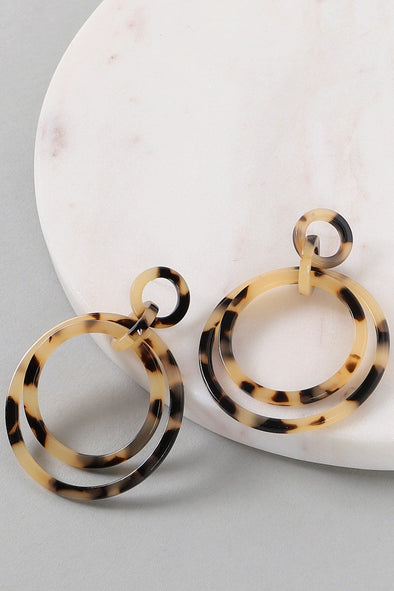 Running Circles Acrylic Earrings