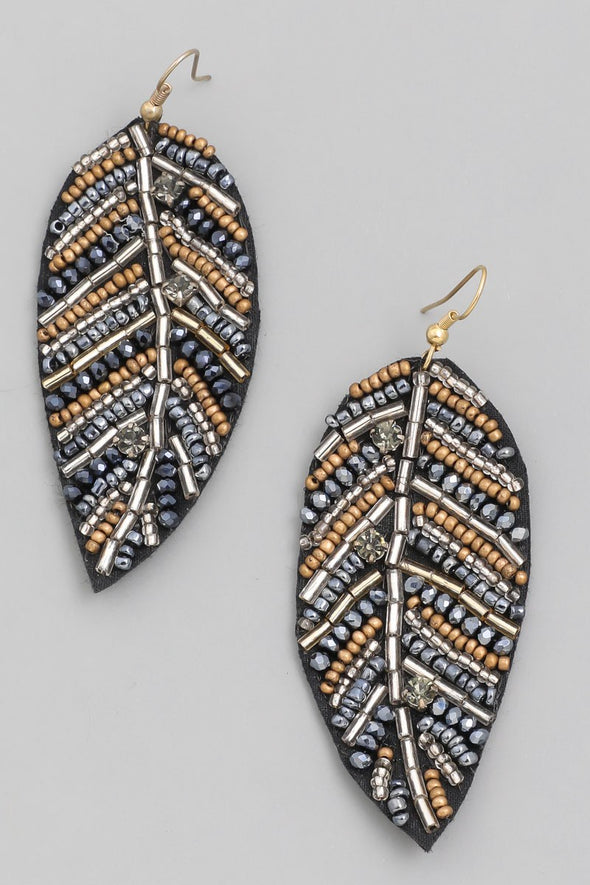 Party Tonight Leaf Earrings