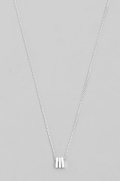 The Mini Triple Bar Necklace