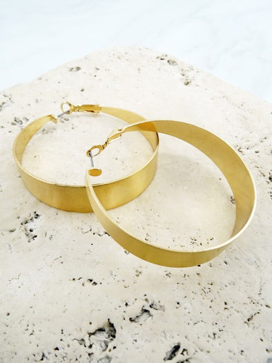 Statement Metal Hoop Earring