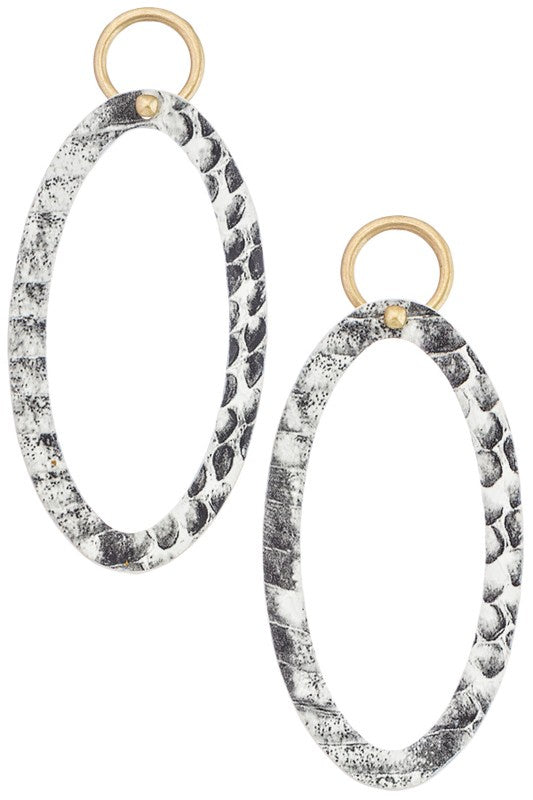 Worth It Hoop Earrings - Snake