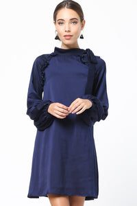 Take The Night Off Dress - Navy