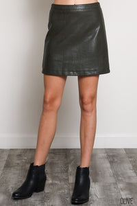 No Second Chances Leather Skirt