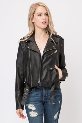 Always In Control Leather Jacket