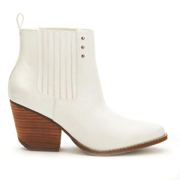 Slick White Bootie