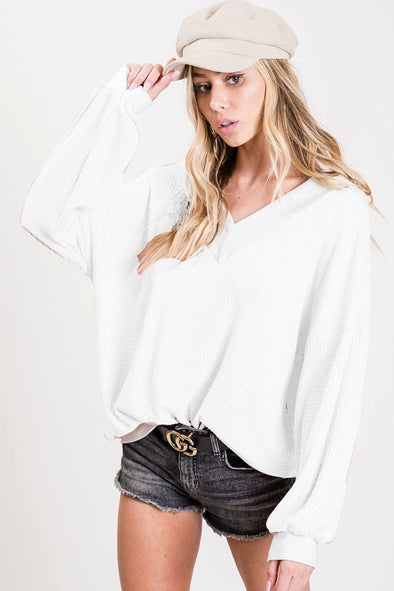 Be Good As You Thermal Top - Off White