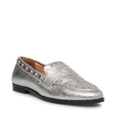 Ample Silver Leather Slide