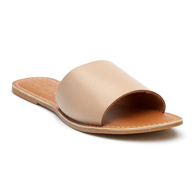 Cabana Slide Sandal - Natural Leather