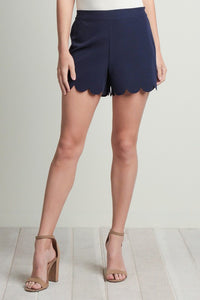 Perfect Details Scalloped Shorts
