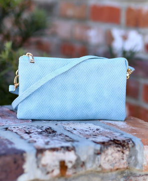 Liz Custom Collection Cross Body- Woven Sky