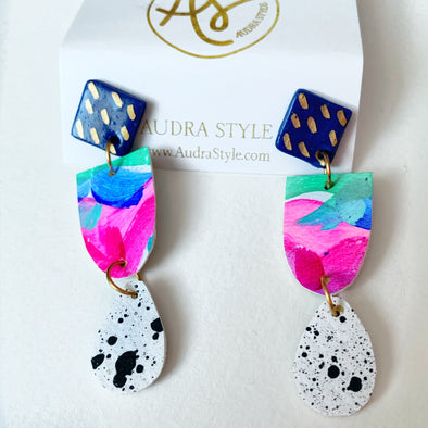 Spring Abstract Leah Drop Earring
