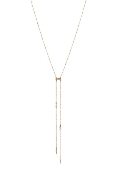 Cutting Edge Necklace In Gold