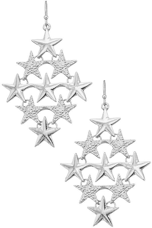 All The Stars Earrings - Rhodium
