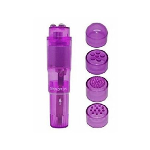 (bulk) Cloud 9 Novelties Mini Massager Pocket Rocket W/ 4 Attachments