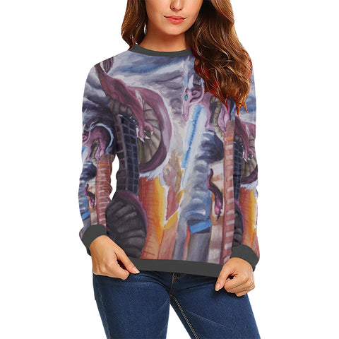 Dragons of Destruction Womens Sweatshirt
