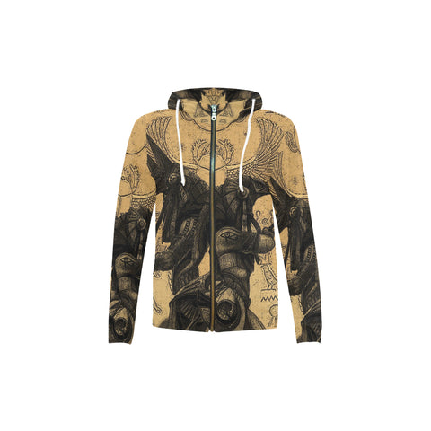 Anubis vs. Horus All Over Kid's Zip Hoodie