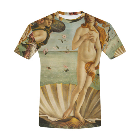 Birth of Venus All Over Men's T-Shirt