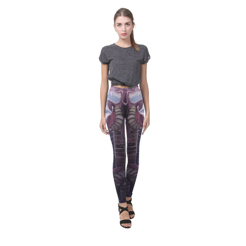 Dragon Watercolor Painting All-Over Yoga Leggings