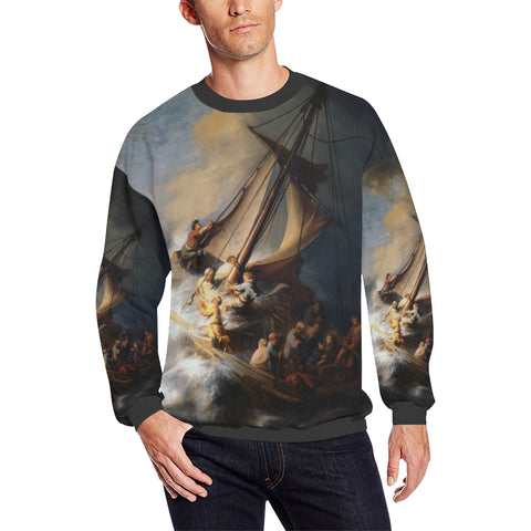 Storm on the Lake of Galilee Men's Sweatshirt
