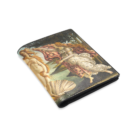 Men's Designer Leather Wallet - Birth of Venus - Sandro Botticelli