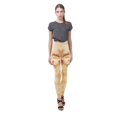 Leonardo da Vinci Self Portrait Drawing All-Over Leggings