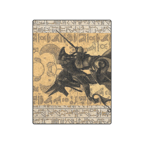 "50"" x 60"" Fleece Blanket - Anubis vs. Horus"