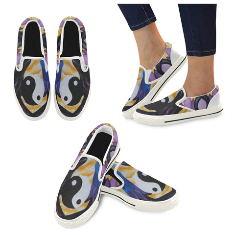Dragon of Peace Oil Painting Casual Women's Shoes