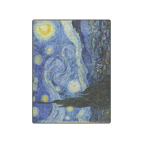 "50"" x 60"" Fleece Blanket - Starry Night - Vincent Van Gogh"