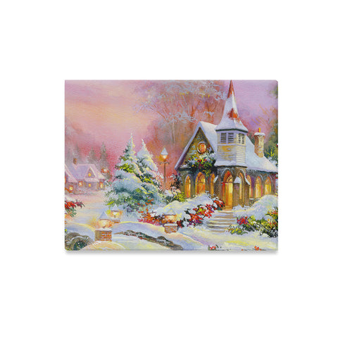 Christmas Scene Canvas Wall Art Print