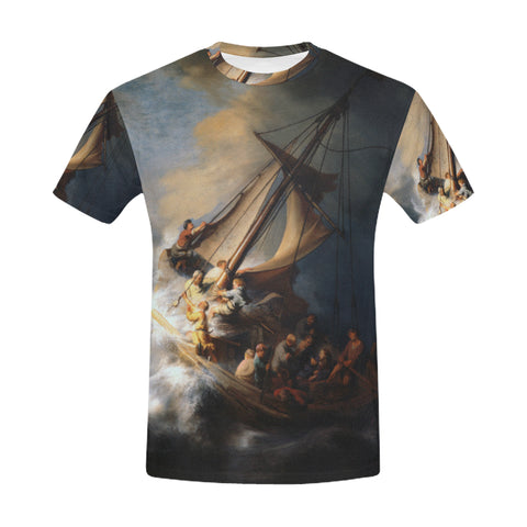 The Storm on the Lake of Galilee All Over Men's T-Shirt