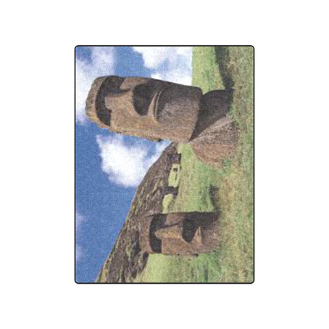 "50"" x 60"" Fleece Blanket - Easter Island Heads"