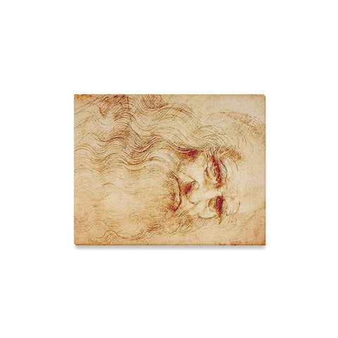 Leonardo Da Vinci Self Portrait Drawing Canvas Wall Art Print