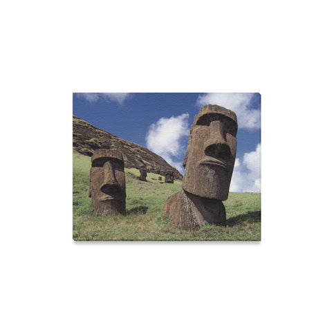 Easter Island Heads Art Canvas Print