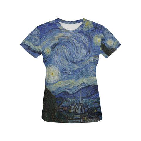 Starry Night All Over Women's T-Shirt