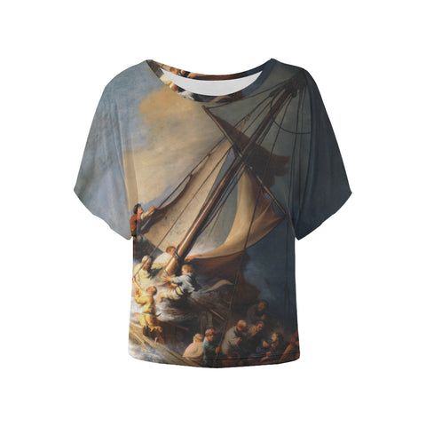 The Storm on the Lake of Galilee All Over Women's Batwing Sleeve T-Shirt