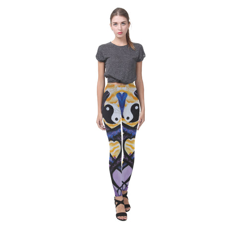 Dragons of Peace Oil Painting All-Over Leggings