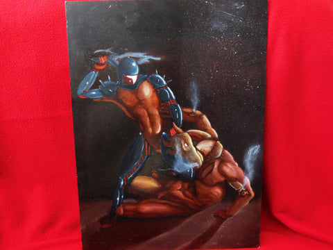 Minotaur vs Theseus Oil Painting