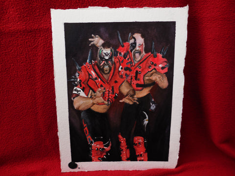 Watercolor Painting of the Road Warriors