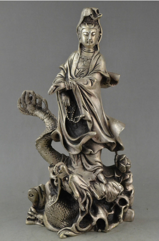 Bodhisattva Buddha Metal Statue (Collection of Old China)