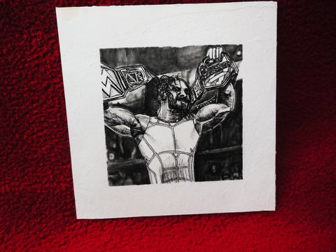 Ink drawing of Seth Rollins