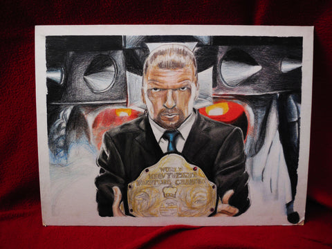 Prismacolor Drawing of Triple H