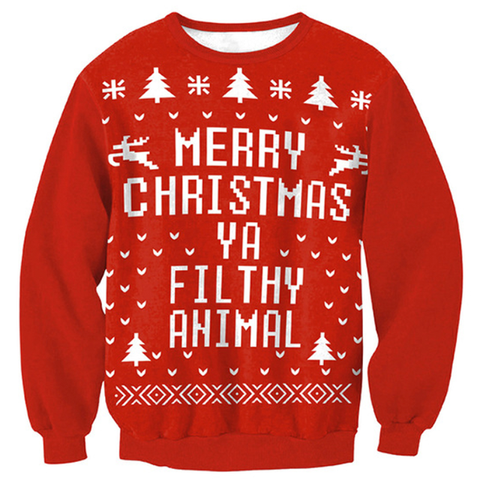 Merry Christmas 'Ya Filthy Animal' Sweater