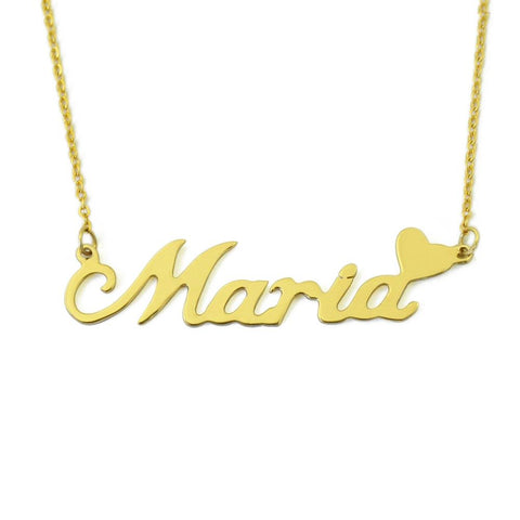 Personalized Name Necklace With Heart