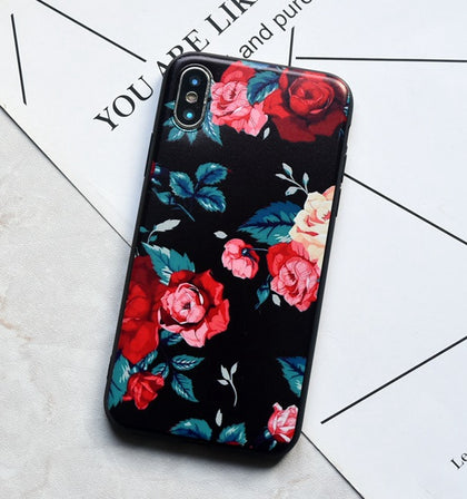 Black Flower Iphone Case