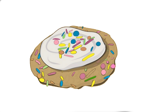 Cookie People Birthday Cake Cookie