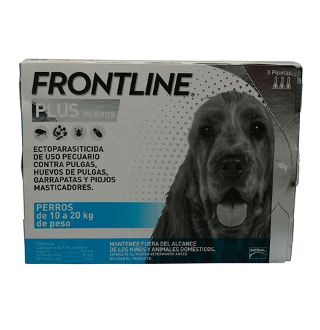 Merial Frontline Plus - 3 Pack Mediano