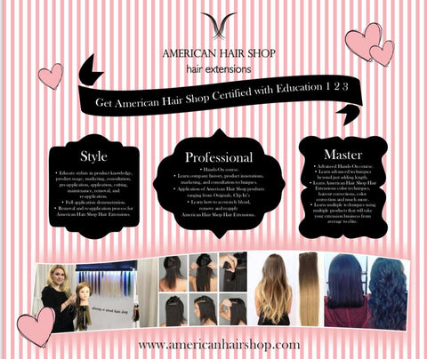 3 Levels Hair Extensions Education, Style, Professional & Master classes available